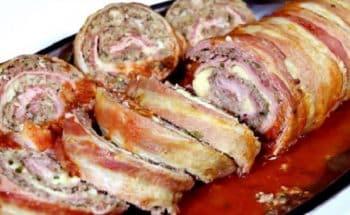 Bolo de carne recheado