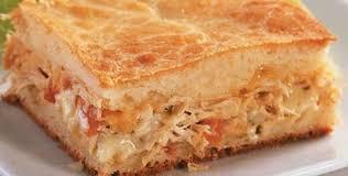 Receita de torta de frango simples