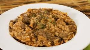 risoto de carne