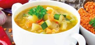 Sopa de legumes com carne em 30 minutos