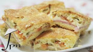 Receita de torta salgada de presunto e queijo