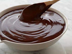 Ganache de chocolate em pó