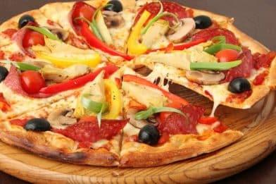 Massa de pizza sem fermento