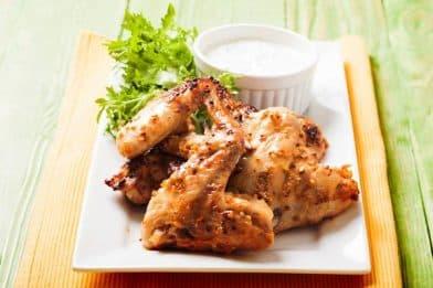 Asa de frango assada