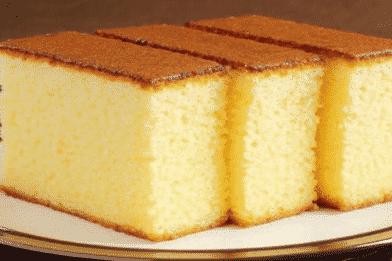 Massa de bolo lisa