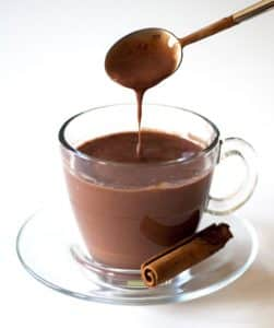 Chocolate quente sem maizena