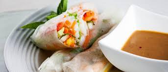 Comida tailandesa - Rolinhos Thai