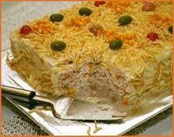 bolo salgado de pão de forma