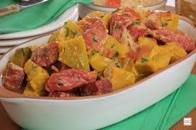 Carne seca com abobora com 5 ingredientes