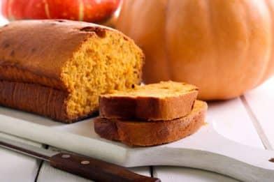 Pão de abóbora caseiro