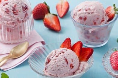 O melhor sorvete de morango