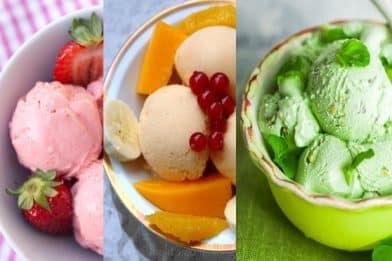 Sorvete de frutas cremoso