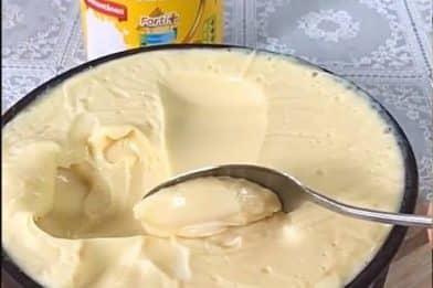 Leite condensado cremoso com leite ninho