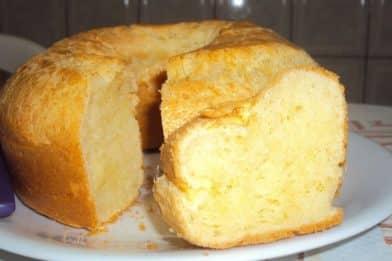 Pão de queijo de assadeira delicioso