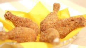 Coxa de frango empanada