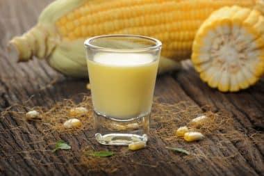 Suco de milho delicioso