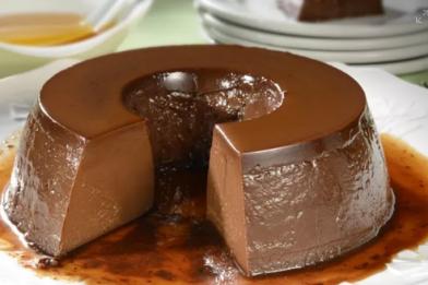 Pudim de chocolate que não vai ao forno