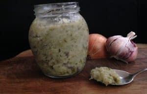 tempero caseiro alho e cebola