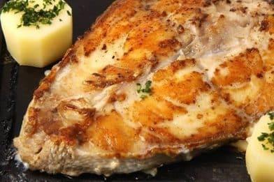 Filé de peixe assado delicioso
