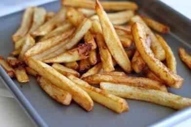 Batata frita na panela de pressão sequinha