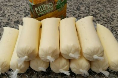Geladinho de milho verde cremoso