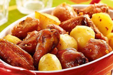 Frango no forno com batata