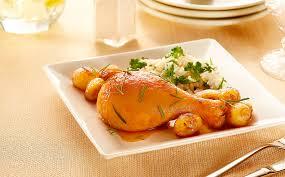 Coxa de frango assada prática e saborosa
