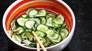 Receita de salada de pepino agridoce
