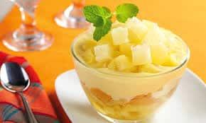 Receita de sobremesa de abacaxi simples