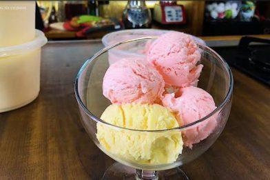 Receita simples de sorvete com suco tang