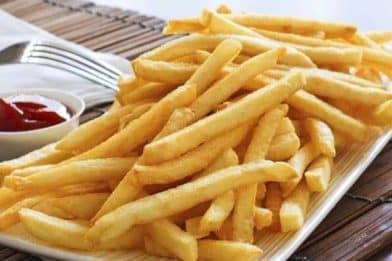 Batata frita sem óleo sequinha