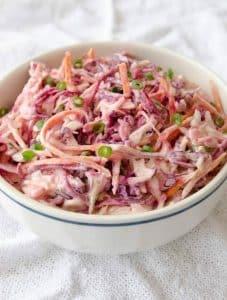 Salada de repolho com maionese