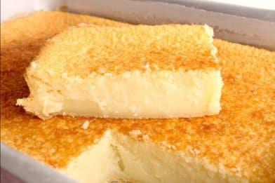 Tradicional bolo caçarola fofinho