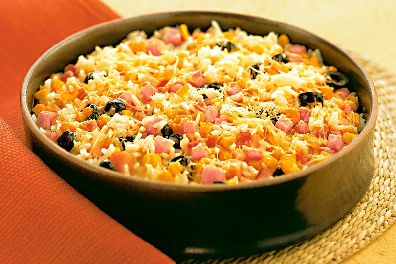 receita de arroz temperado